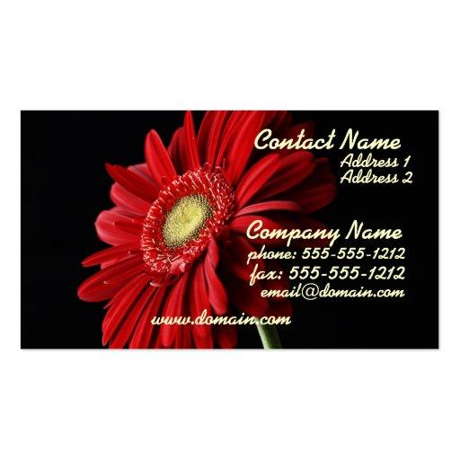 Red Gerber Daisy Business Card