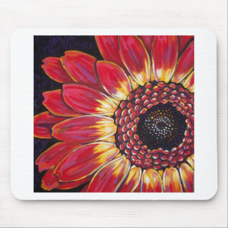 RED GERBER DAISY MOUSE PAD