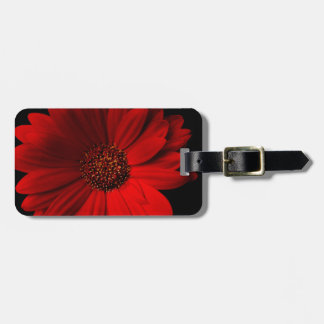 Red Gerbera Daisy Luggage Tag