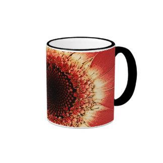 red gerbera daisy mug