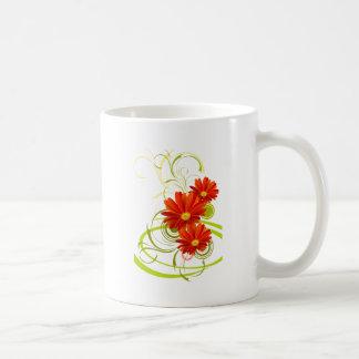 Red Gerbera Daisy Mugs