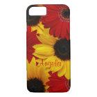 Red Gerbera Daisy Yellow Sunflower iPhone 8/7 Case