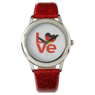 Red German LOVE Watch