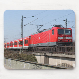 Red German Train Mouse Pad