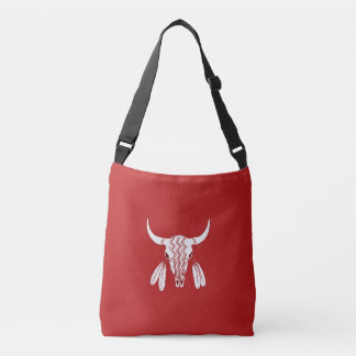 Red Ghost Dance Buffalo cross body bag