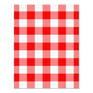 Red Gingham Card