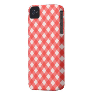 Red Gingham Checkered iPhone 4s Case