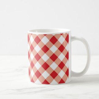 Red Gingham Coffee Mug