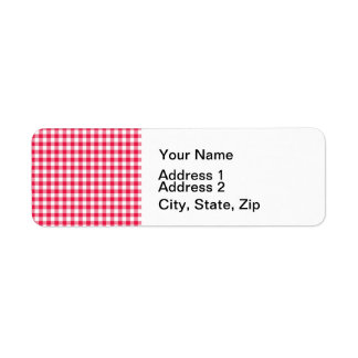 Red Gingham Country Return Address Label