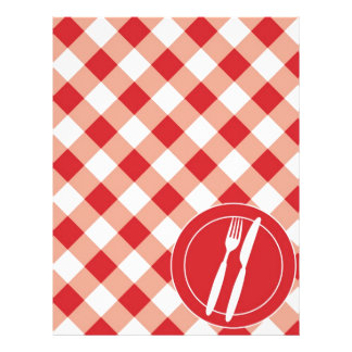 Red Gingham & Cutlery Flyer
