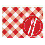 Red Gingham & Cutlery Post Cards