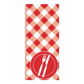 Red Gingham & Cutlery Rack Card