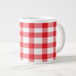 Red Gingham Large Coffee Mug