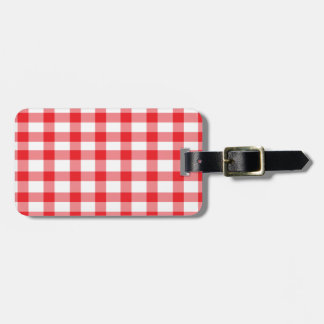 Red Gingham Luggage Tag