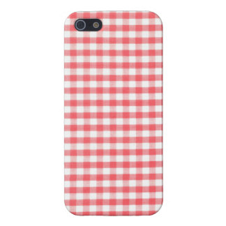 Red Gingham Pattern Case For iPhone 5/5S