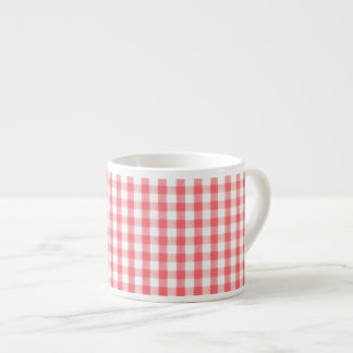 Red Gingham Pattern Espresso Cup