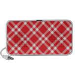 Red Gingham Pattern iPhone Speakers