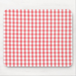Red Gingham Pattern Mouse Mat