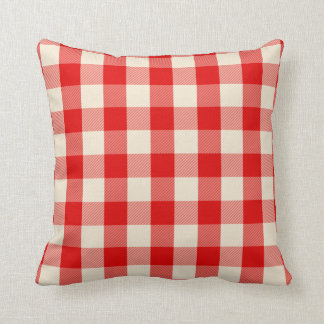 Red gingham pillow