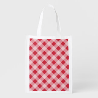 Red Gingham Reusable Grocery Bag