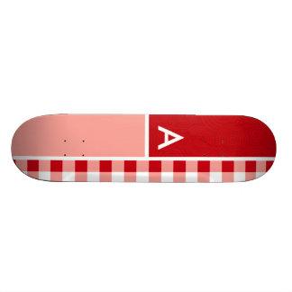 Red Gingham Skate Decks