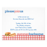 Red gingham summer barbeque July 4th celebration Personalized Announcements