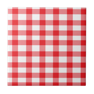 Red Gingham Tile