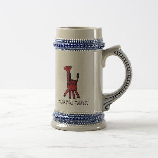 "Red Giraffe ""Coffee High"" Mug"