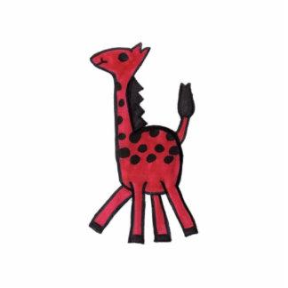 Red Giraffe Photo Standing Photo Sculpture
