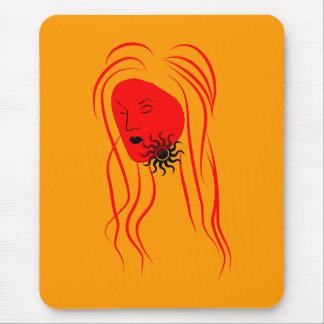 Red Girl Mouse Pad