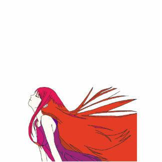 Red Girl Photo Cutouts