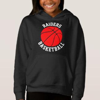 Red Girls Basketball Customizable Sweatshirt