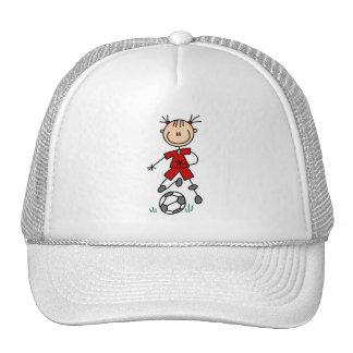 Red Girls Soccer Hat