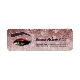 Red glam lashes eyes | makeup artist
