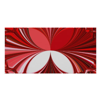 Red Glass Stones Picture Card