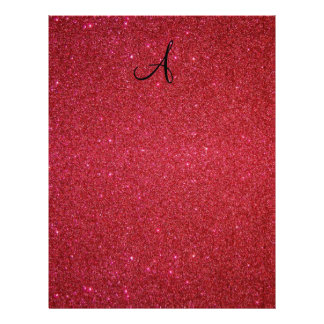 Red glitter 21.5 cm x 28 cm flyer