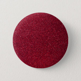 Red Glitter 6 Cm Round Badge