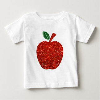 Red Glitter Apple Baby T-Shirt