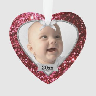 Red Glitter Baby's 1st Christmas Ornament