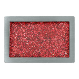 Red Glitter Belt Buckles