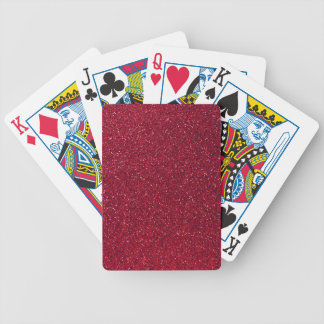 Red Glitter Bicycle Playing Cards