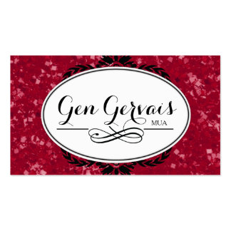 Red Glitter Business Card Template Business Cards