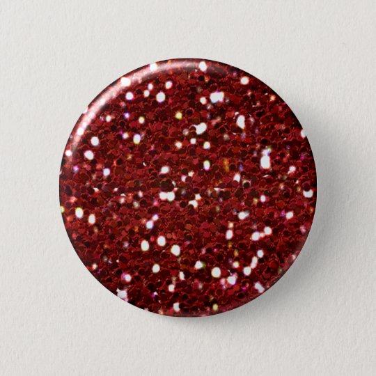 Red Glitter Button