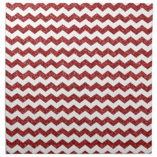 Red glitter chevrons napkin