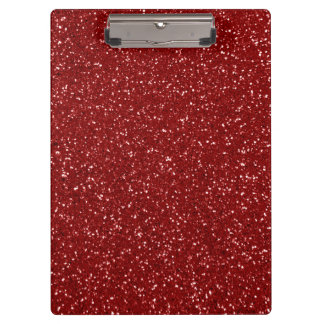 Red Glitter Clipboards