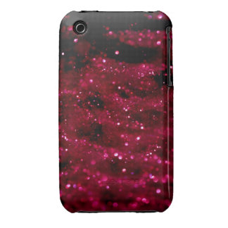Red Glitter Cover iPhone 3 Covers