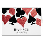 Red Glitter Destiny Las Vegas Wedding Thank Yo Note Card
