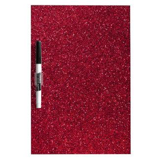 Red Glitter Dry Erase Board