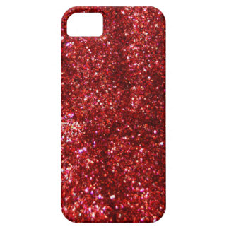 Red Glitter Effect Case For The iPhone 5