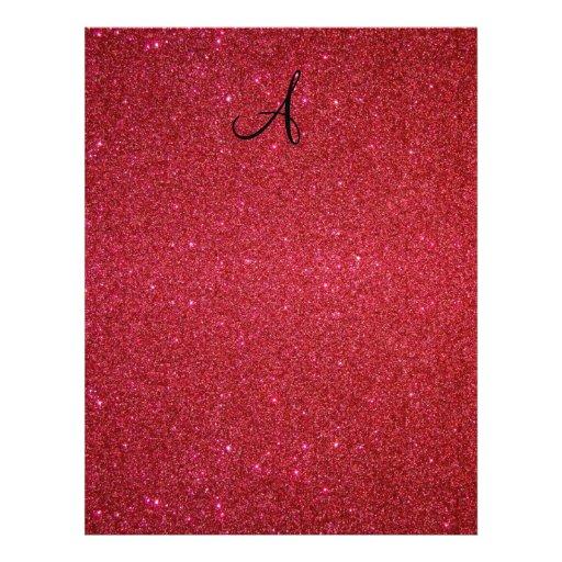 Red glitter custom flyer